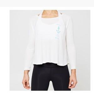 Soulcycle MV Prime Time Waffle top sz S M relaxed